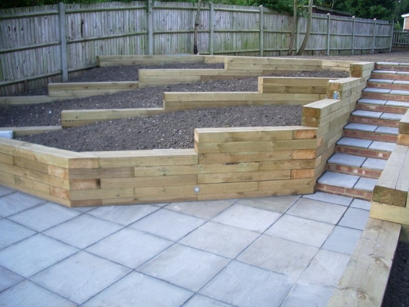 Railway sleepers glasgow railway sleepers commercial for Garden design ideas glasgow